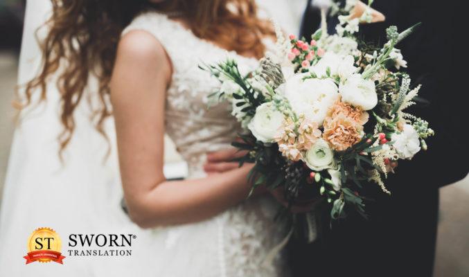 Tradução Juramentada de Certidão de Casamento