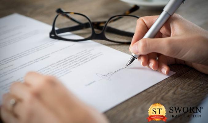 Tradução juramentada precisa de reconhecimento de firma